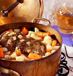 Yankee Pot Roast, partially cooked.