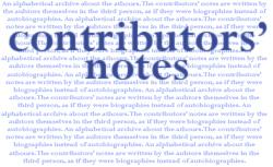 Contributors' Notes