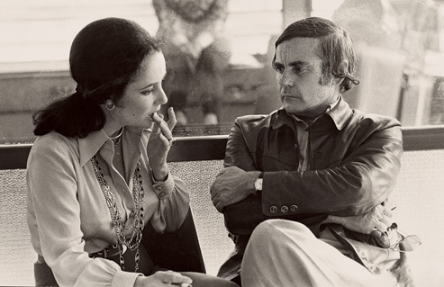 Dominick Dunne with Elizabeth Taylor