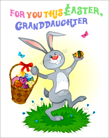 For you this Easter, Granddaughter...