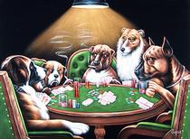 Dogs Playing Texas Hold 'em
