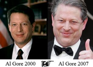 Al Gore 2000 ... Al Gore 2007
