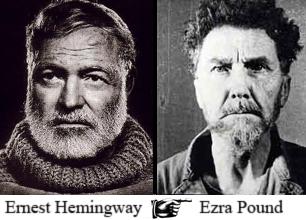 Ernest Hemingway ... Ezra Pound