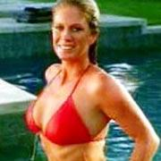 Rachel Hunter in a still from Fountains of Wayne's music video 'Stacy's Mom.' Ms. Hunter has no idea who Fountains of Wayne are.